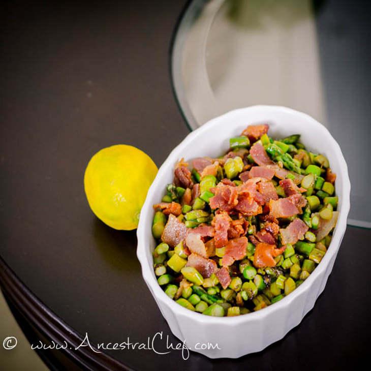 Lemon Asparagus Saute with Bacon