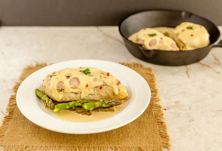 Malibu Dijon Chicken Asparagus Skillet
