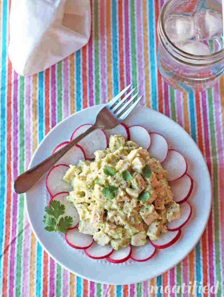 Low Carb No Mayo Cilantro Chicken Salad