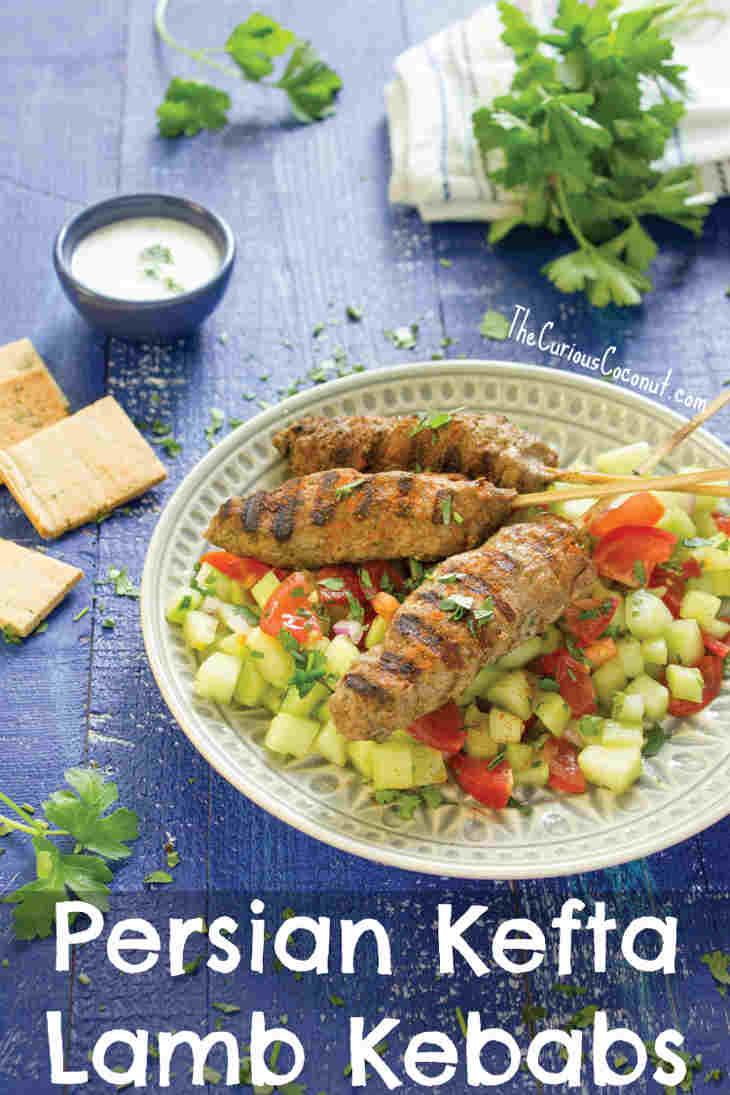 Persian Kefta Lamb Kebabs