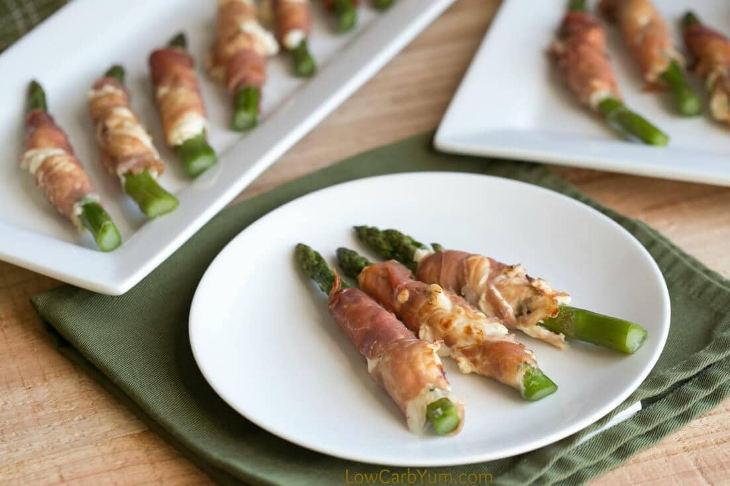 Prosciutto Wrapped Asparagus Cream Cheese