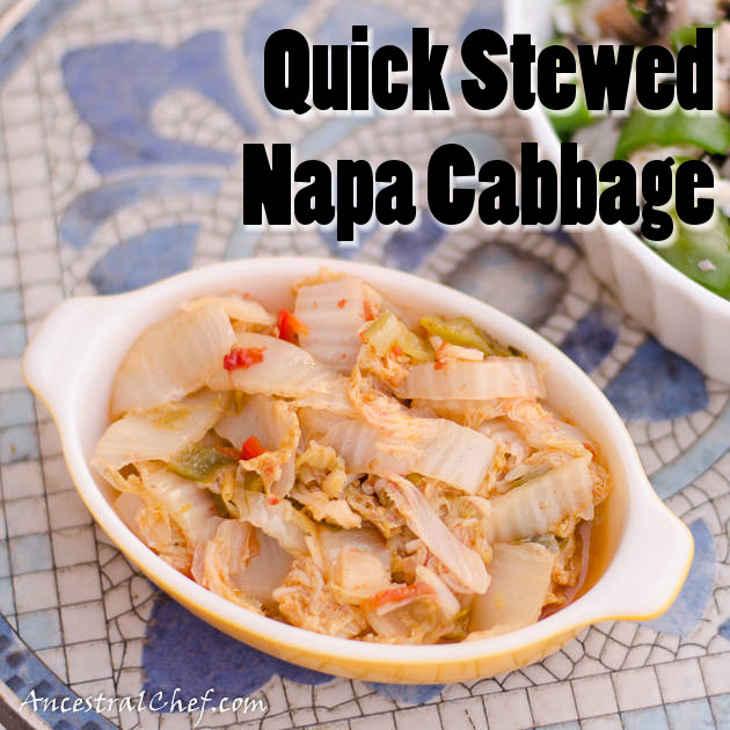 Quick Stewed Napa Cabbage