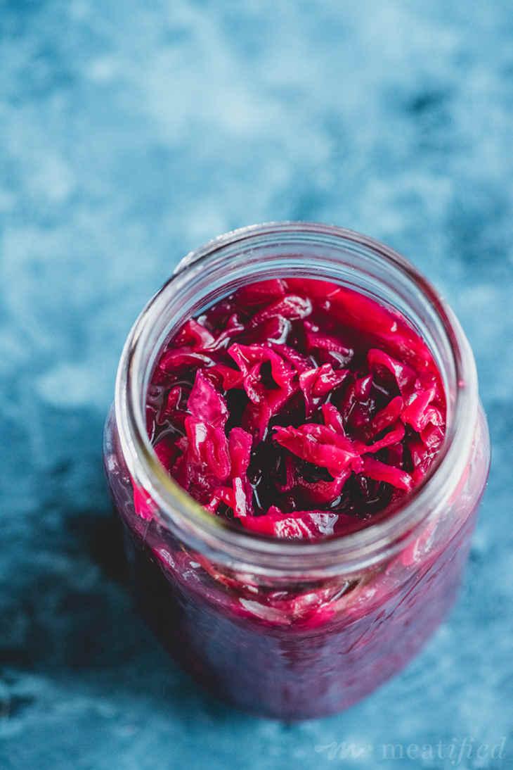 Red Cabbage Sauerkraut with Ginger