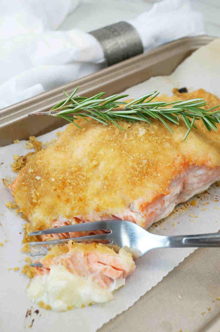 Rosemary Pork Dusted Salmon