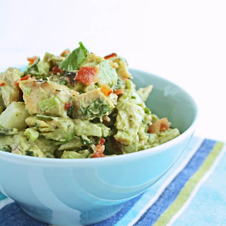 Ketogenic Southwestern Chicken Salad w/ Bacon & Avocado
