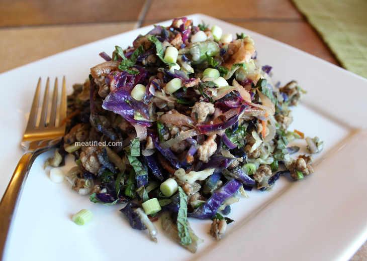 Stir Fried Pork with Cabbage Noodles