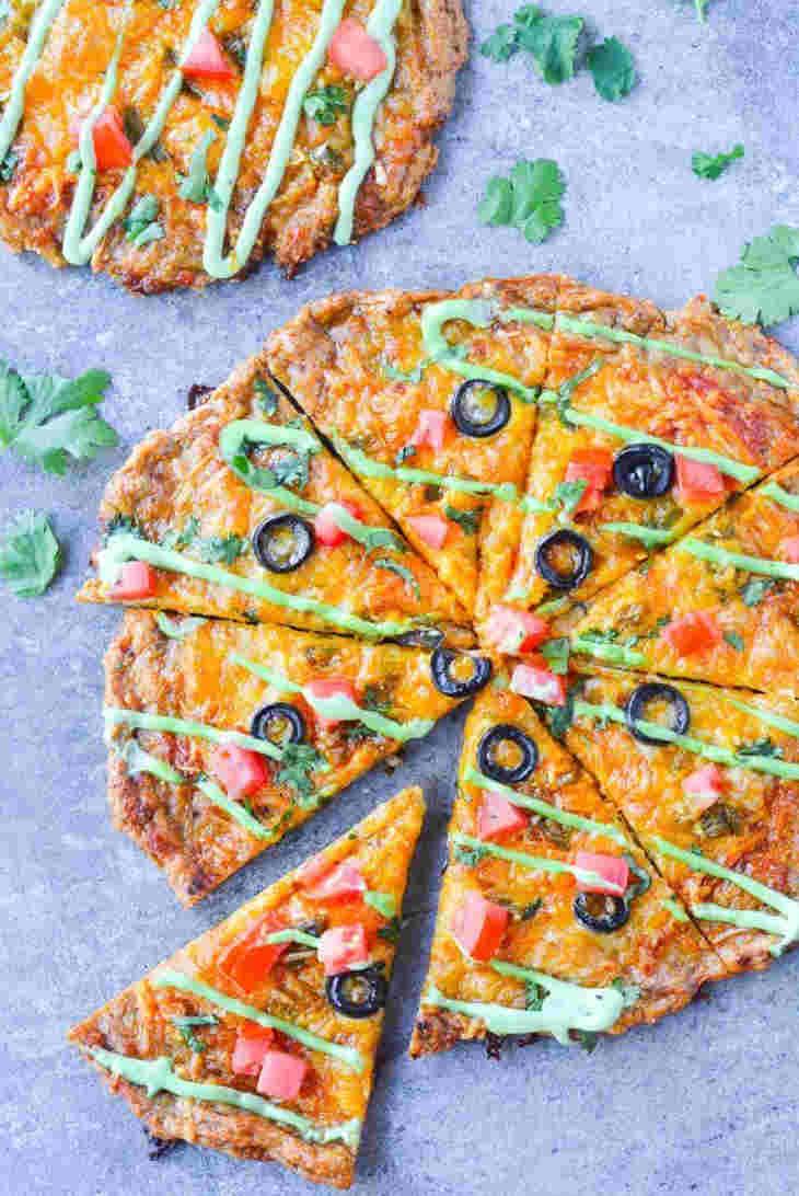 Chicken Crust Taco Pizza