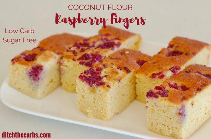 Coconut Flour Raspberry Fingers