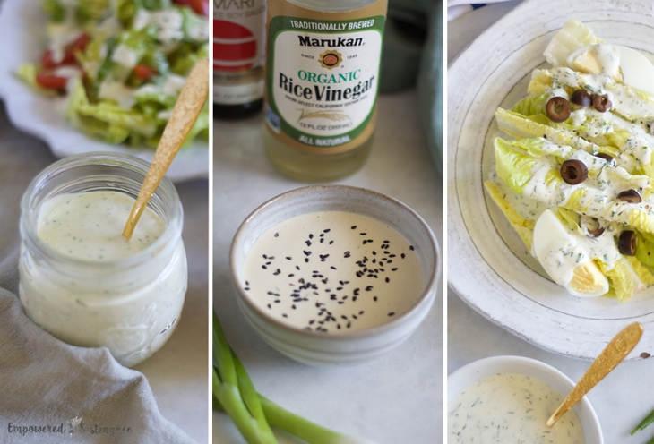 Creamy Low Carb Salad Dressing, Three Ways