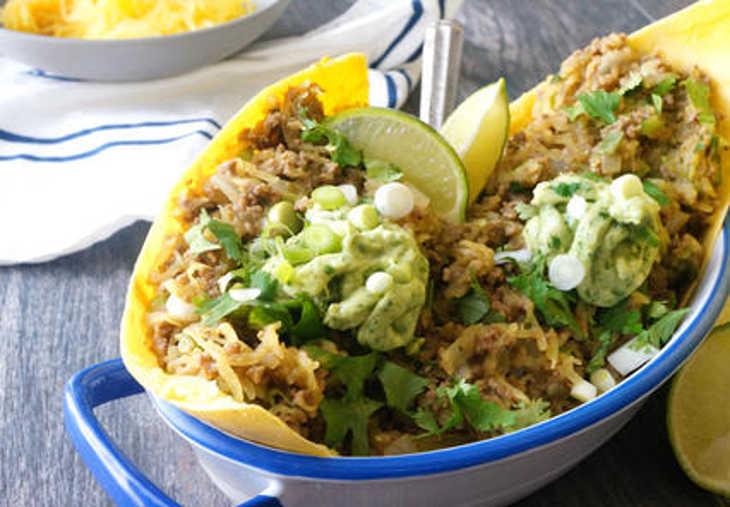 Nightshade-Free Taco Beef Spaghetti Squash Boats