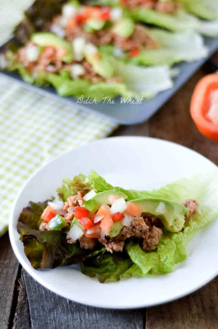 Paleo Ground Pork Tacos