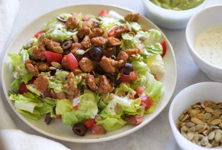 Paleo Taco Salad with Dairy Free Ranch