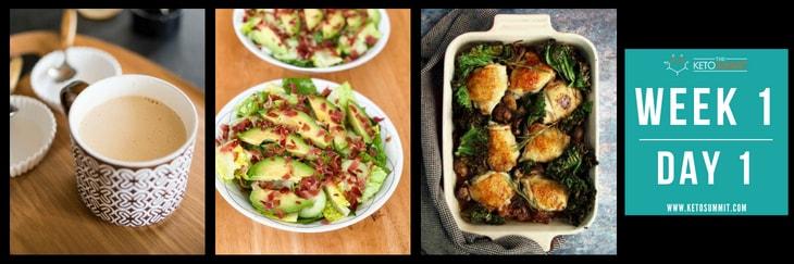 28-Day Keto Diet Meal Plan - Week 1 Day 1-min