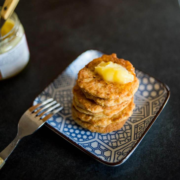 Keto Chicken Bacon Pancakes Recipe #keto https://ketosummit.com/keto-chicken-bacon-pancakes-recipe