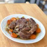 Easy Slow Cooker Keto Pot Roast Recipe #keto https://ketosummit.com/easy-slow-cooker-keto-pot-roast-recipe