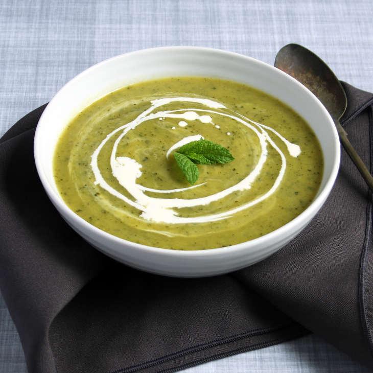 Cheesy Keto Zucchini Soup Recipe [Dairy-Free] #keto https://ketosummit.com/dairy-free-cheesy-keto-zucchini-soup-recipe