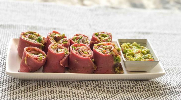 Keto Roast Beef Salsa Rolls Recipe #keto https://ketosummit.com/keto-roast-beef-rolls-recipe