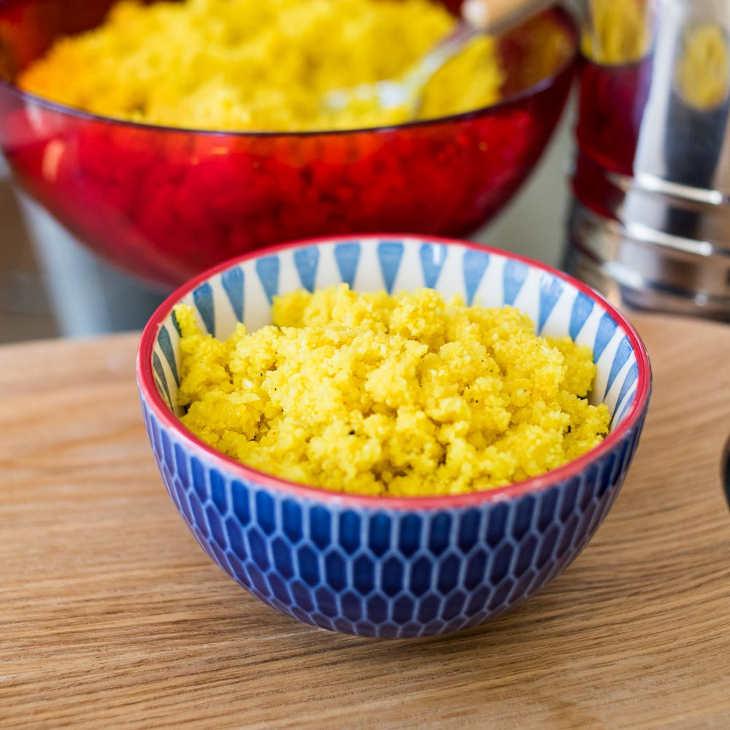 "Keto Turmeric ""Rice"" Recipe #keto https://ketosummit.com/keto-turmeric-rice-recipe"