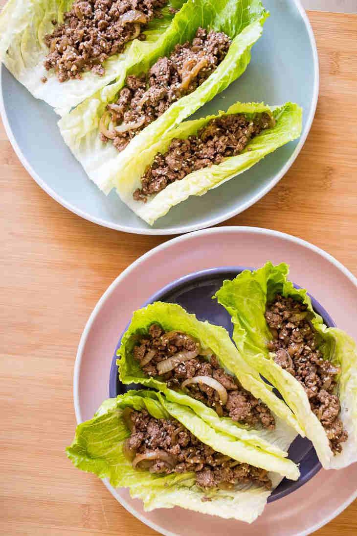 Keto Asian Ground Beef Lettuce Wraps Recipe #keto https://ketosummit.com/keto-asian-ground-beef-lettuce-wraps-recipe