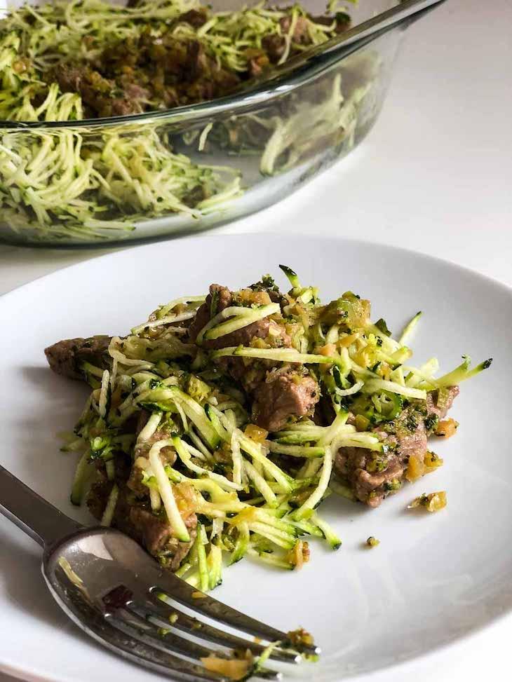 Keto Beef Noodles #keto https://paleoflourish.com/keto-beef-noodles-recipe