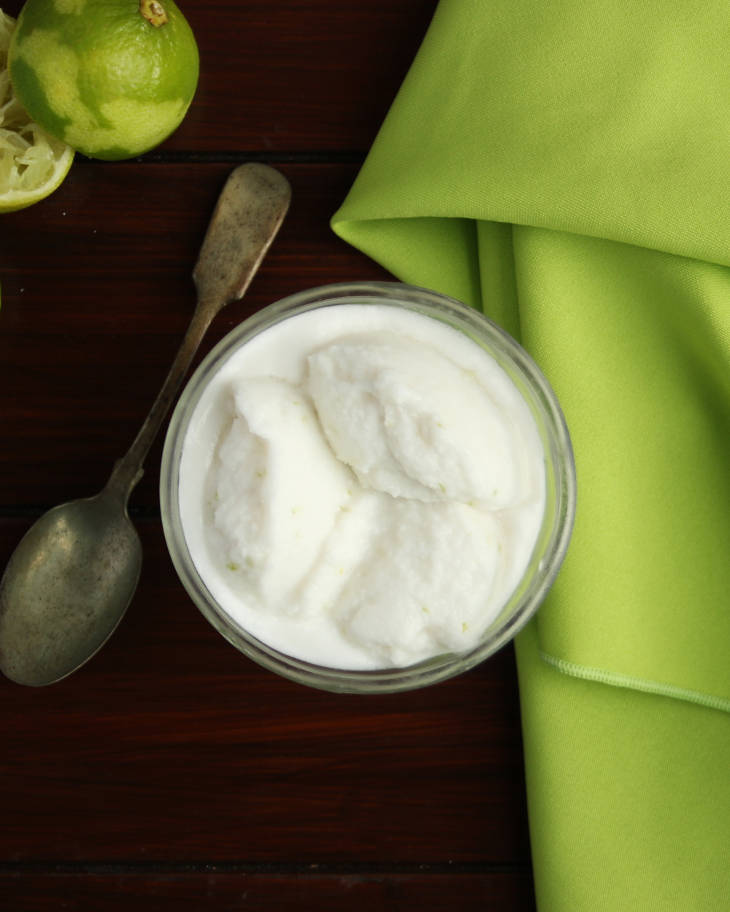Keto Coconut, Lime, and Cilantro Ice Cream #keto https://ketosummit.com/keto-coconut-lime-ice-cream