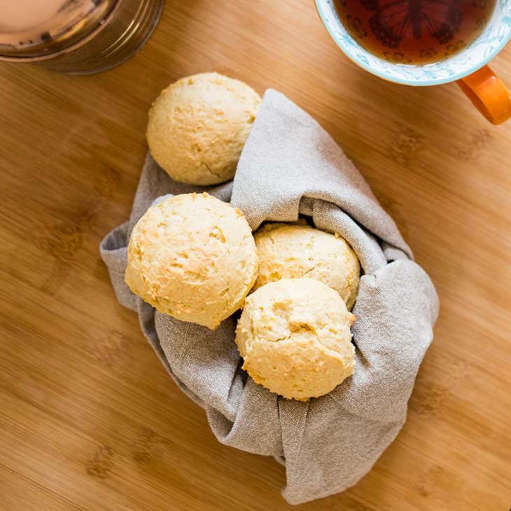 "Keto Dairy-Free ""Cheesy"" Biscuits Recipe #keto https://ketosummit.com/keto-dairy-free-cheesy-biscuits-recipe"