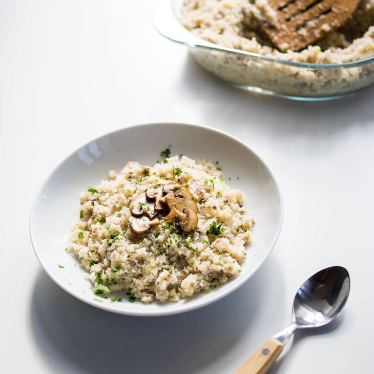"Keto Creamy Mushroom ""Risotto"" Recipe #keto https://ketosummit.com/keto-mushroom-risotto-recipe"