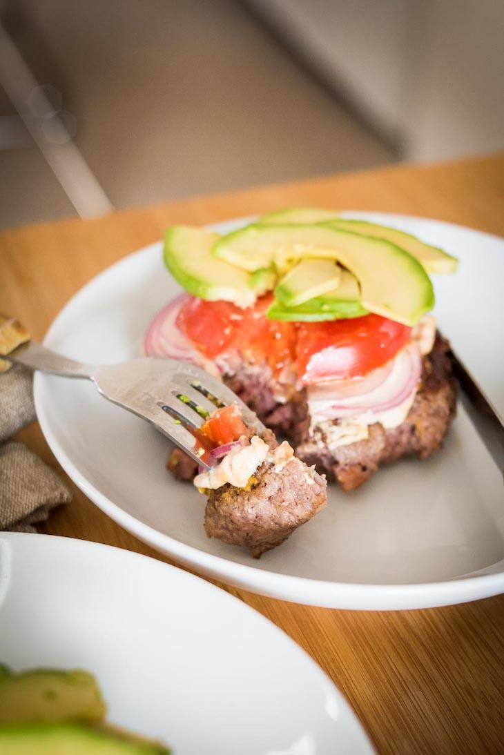 Mustard-Seared Bacon Burgers #keto https://ketosummit.com/keto-mustard-bacon-burgers