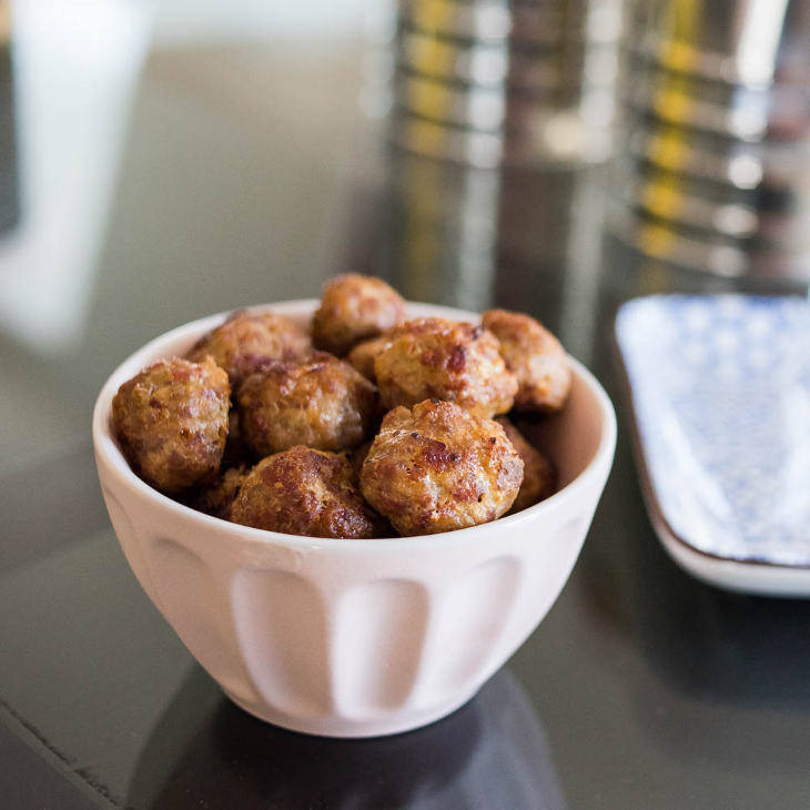 Easy Keto Pepperoni Meatballs
