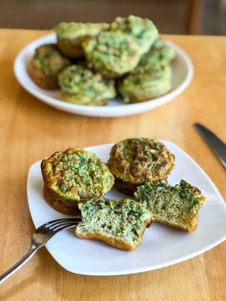 Keto Green Eggs and Ham Muffins Recipe #keto https://ketosummit.com/keto-green-eggs-ham-muffins-recipe