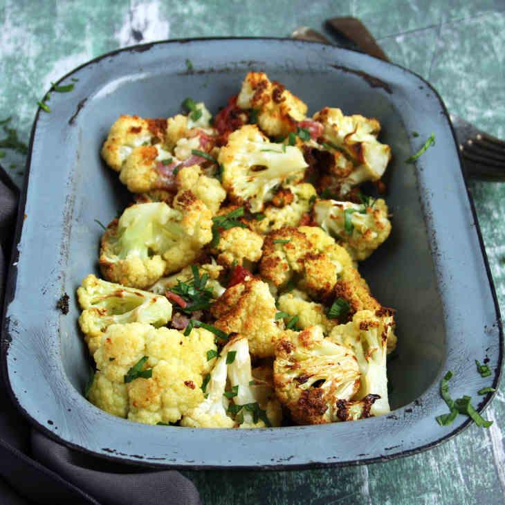 Roasted Cheesy Keto Cauliflower Recipe [Dairy-Free] #keto https://ketosummit.com/cheesy-keto-grilled-cauliflower-recipe-dairy-free
