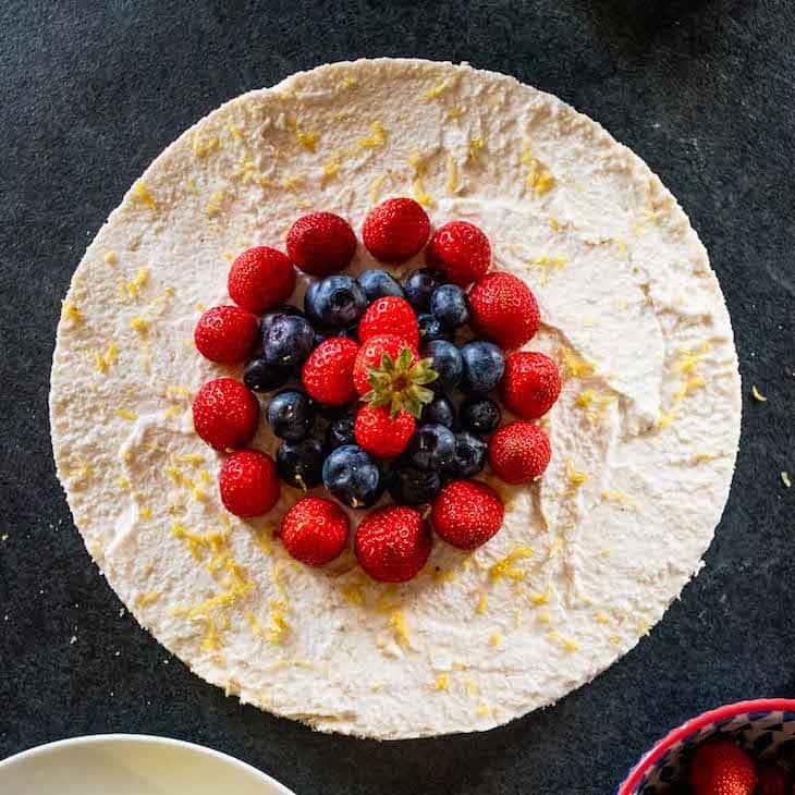 Keto Dairy-Free Cheesecake Recipe #keto https://ketosummit.com/keto-dairy-free-cheesecake-recipe
