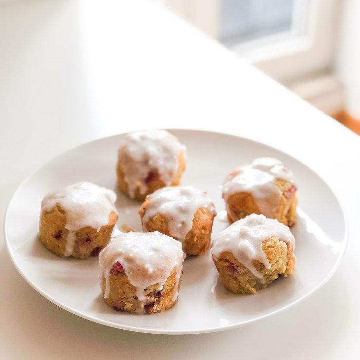 Keto Glazed Strawberry Muffins Recipe #keto https://ketosummit.com/keto-glazed-strawberry-muffins-recipe