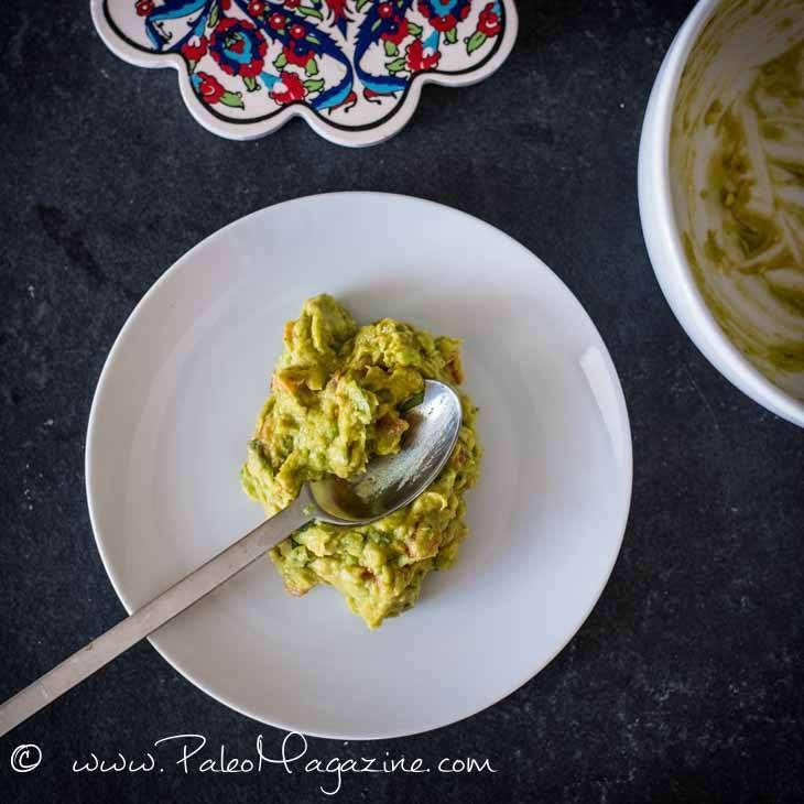 Easy Keto Guacamole with Lime Pieces [Paleo, Keto]
