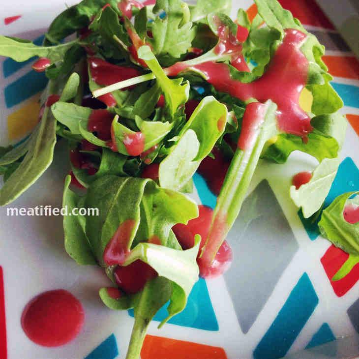 Paleo Raspberry Salad Dressing