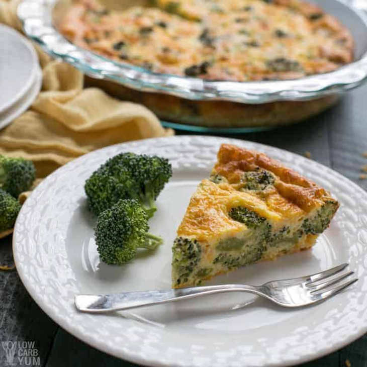 Crustless Broccoli Cheddar Quiche