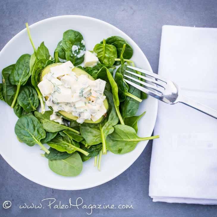 Egg Salad Stuffed Avocados