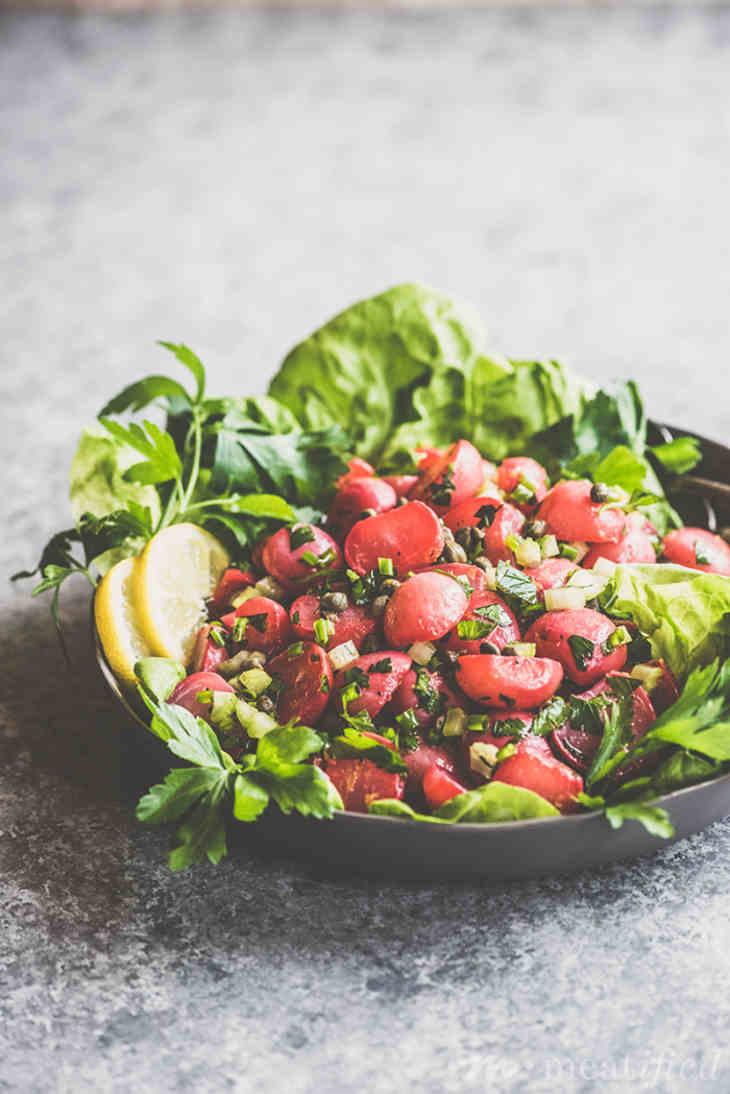 Herbed & Poached Radish Salad