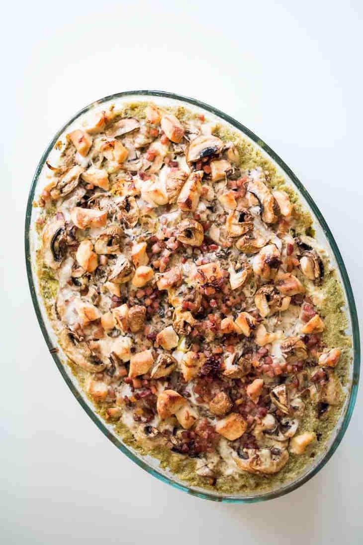 Keto Chicken Mushroom Broccoli Bake Recipe #keto https://ketosummit.com/keto-chicken-mushroom-broccoli-bake-recipe