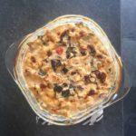 Keto Creamy Chicken and Eggplant Casserole Recipe #keto https://ketosummit.com/keto-creamy-chicken-eggplant-casserole-recipe