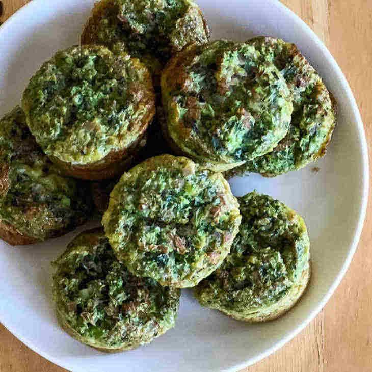 Keto Green Eggs and Ham Muffins