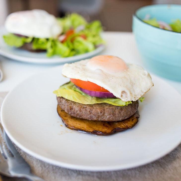 Keto Portobello Bun Burgers #keto https://ketosummit.com/keto-portobello-bun-burgers