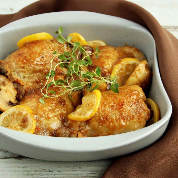 Keto Slow Cooker Lemon Chicken and Mushrooms Recipe #keto https://ketosummit.com/keto-slow-cooker-lemon-chicken-mushrooms-recipe