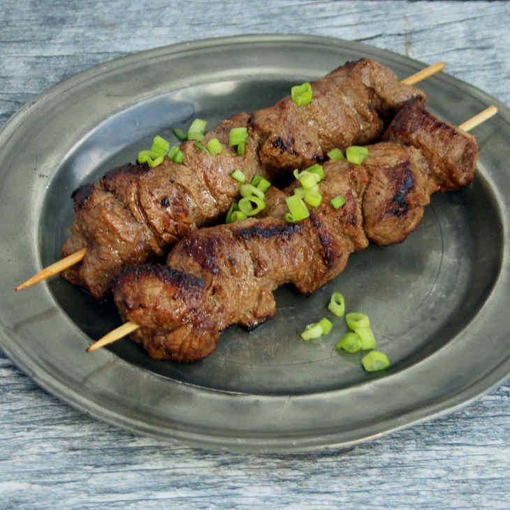 Keto Spicy Beef Skewers Recipe #keto https://ketosummit.com/keto-spicy-beef-skewers-recipe