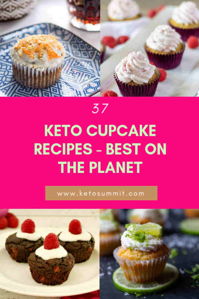 37 Keto Cupcake Recipes - Best On The Planet Collage https://ketosummit.com/keto-cupcake-recipes