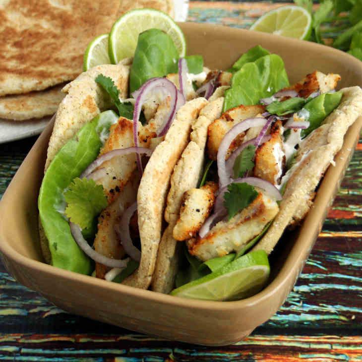 Keto Fish Tacos with Lime Mayo Recipe #keto https://ketosummit.com/keto-fish-tacos-lime-mayo-recipe