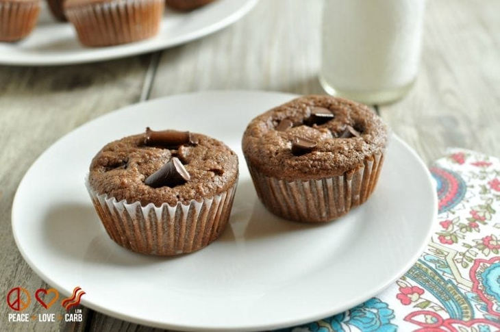 Low Carb Chocolate Mocha Cupcakes
