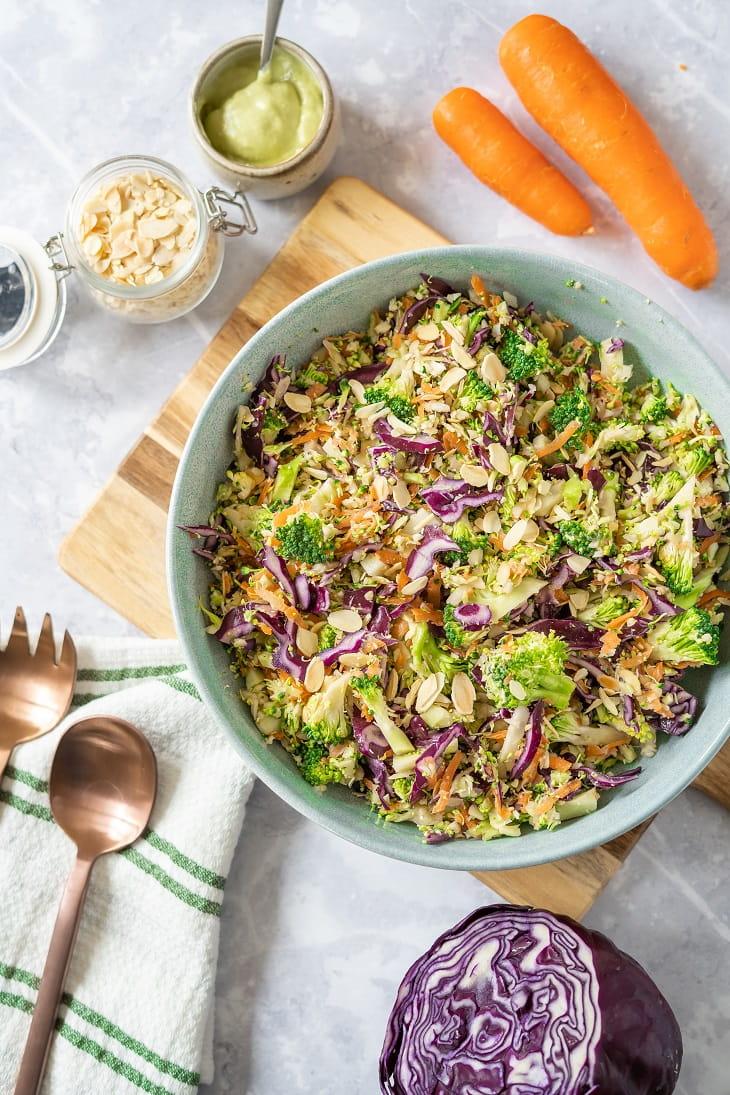 Keto Broccoli Slaw #keto https://ketosummit.com/keto-broccoli-slaw-recipe