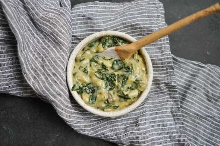 Probiotic spinach artichoke dip