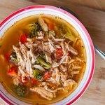 Keto Chicken Taco Soup - Square
